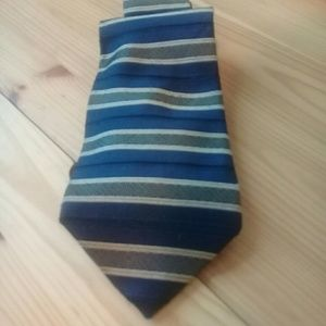 Tommy Hilfiger 100% silk tie blue/gold
